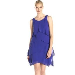 SL Fashions Tulip Tiered Barrel Pin Dress